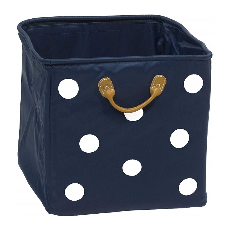 Navy canvas drawer with white spots
