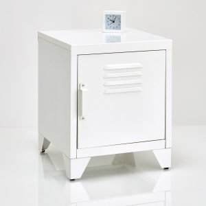 White painted bedside locker