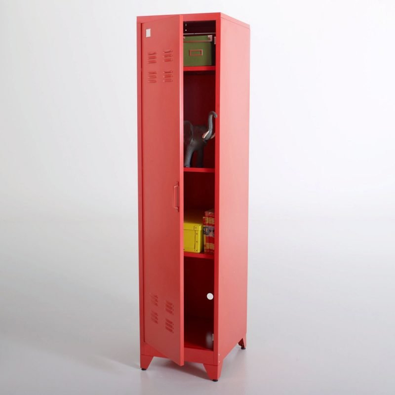 Red, tall locker