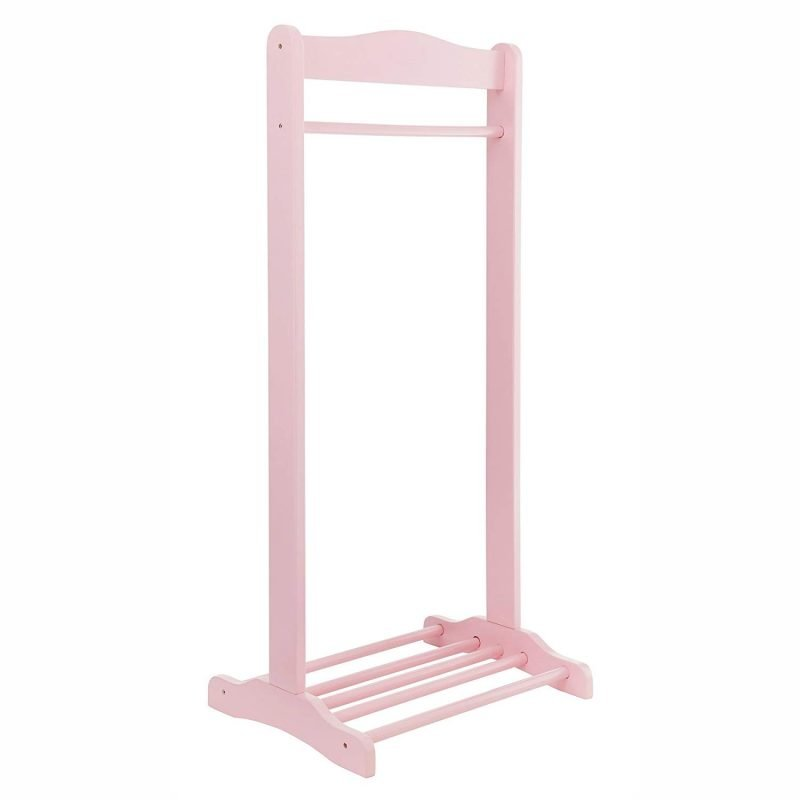 Pink clothes rail