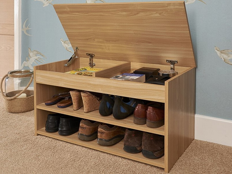 Budget shoe bench with lift up lid