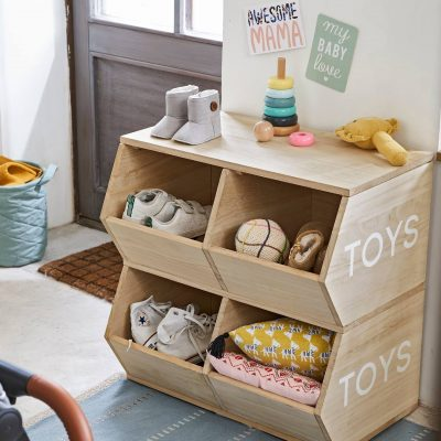 4 section stacking storage unit