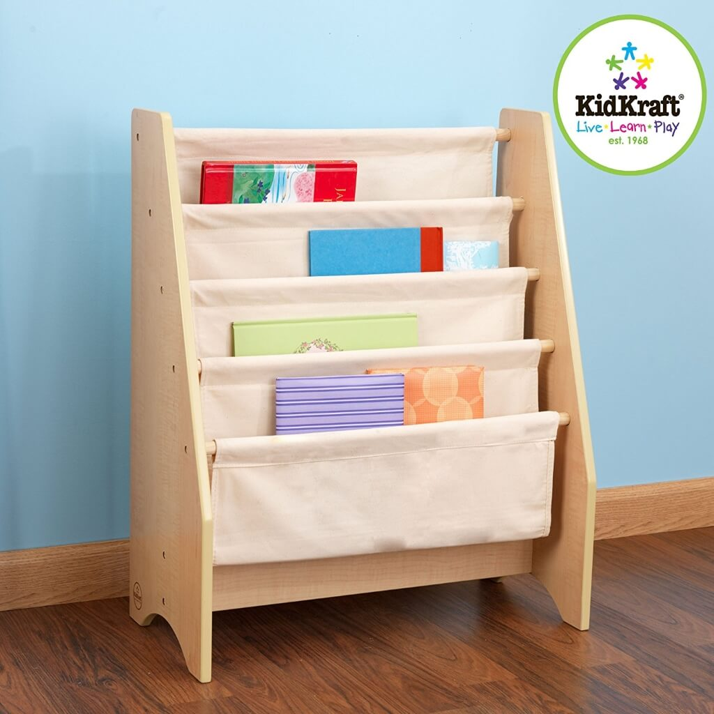 Easy access sling style bookcase