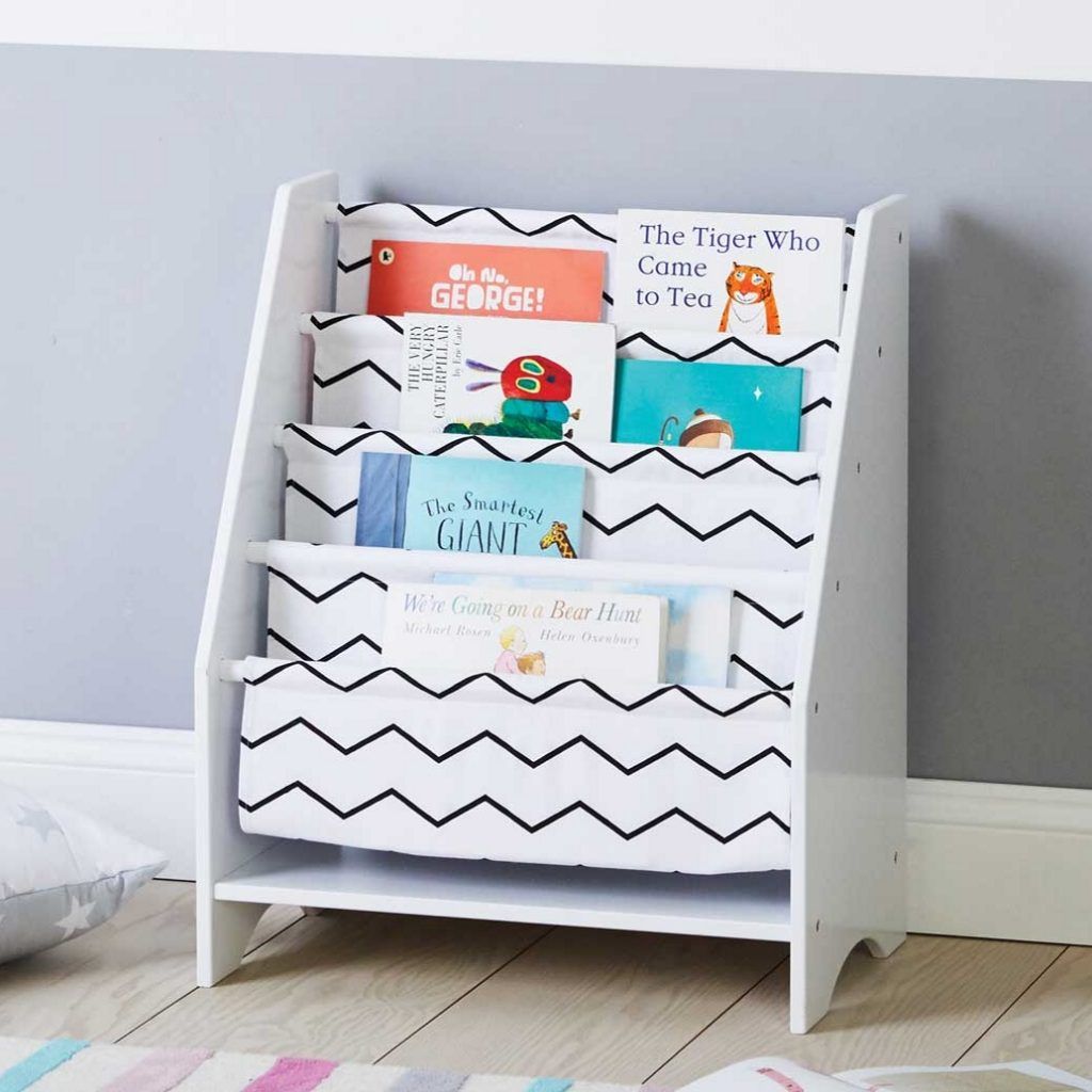 Sling Bookcase with Zig-Zag pattern front