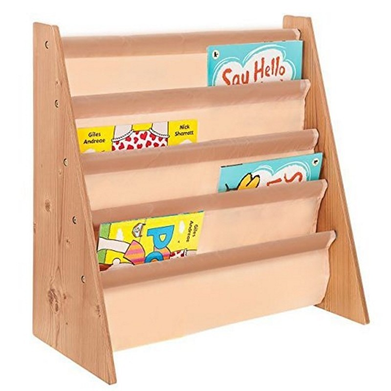 Neutral colour sling bookshelves