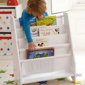 GLTC Sling Bookcase with Plain White Canvas