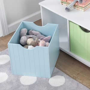 Pastel coloured storage bin