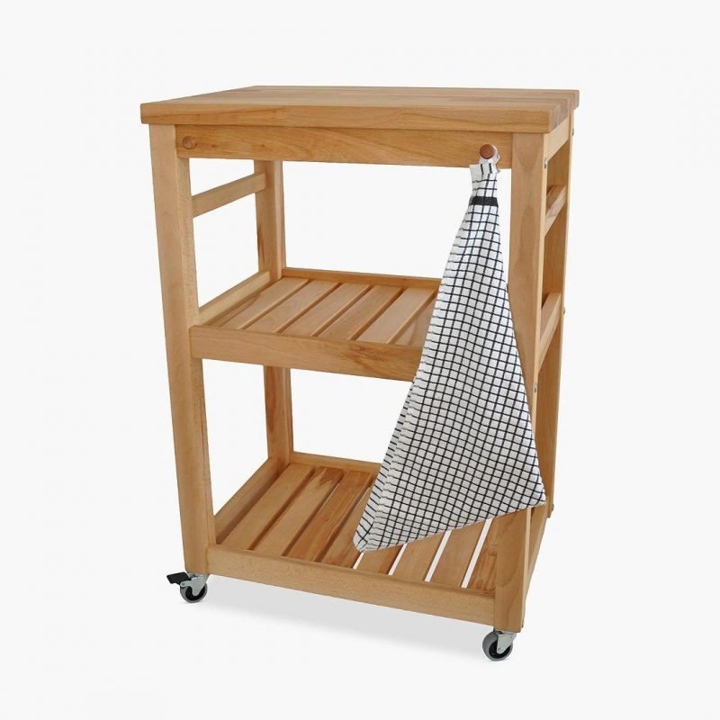 3-tier wooden trolley
