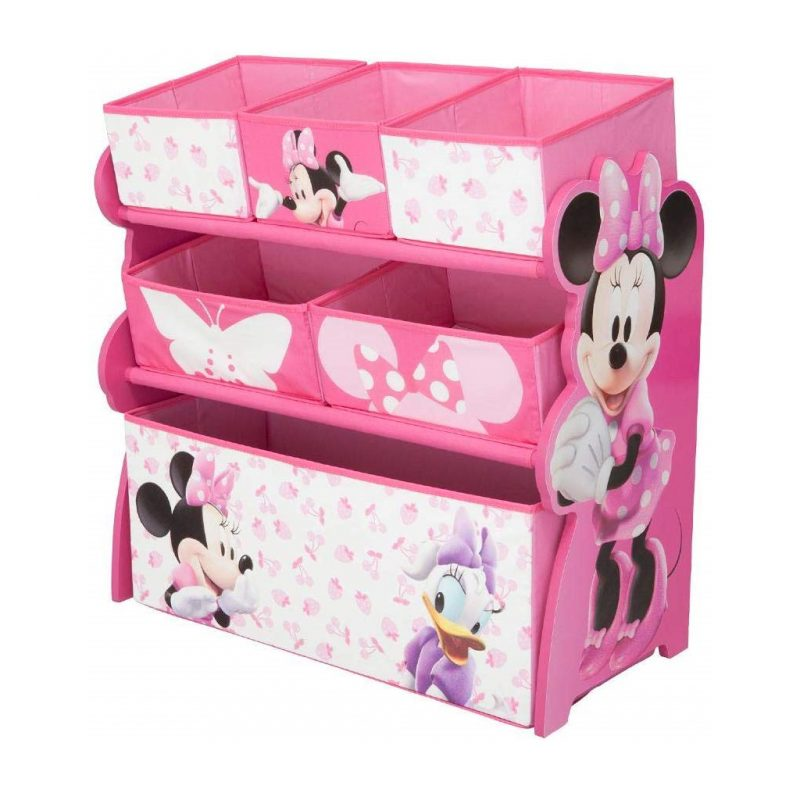 Pink mini mouse themed storage unit