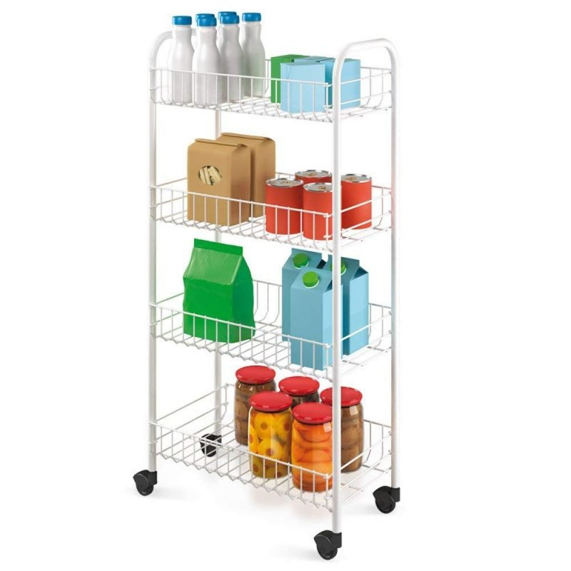 White Plastic covered wire trolley