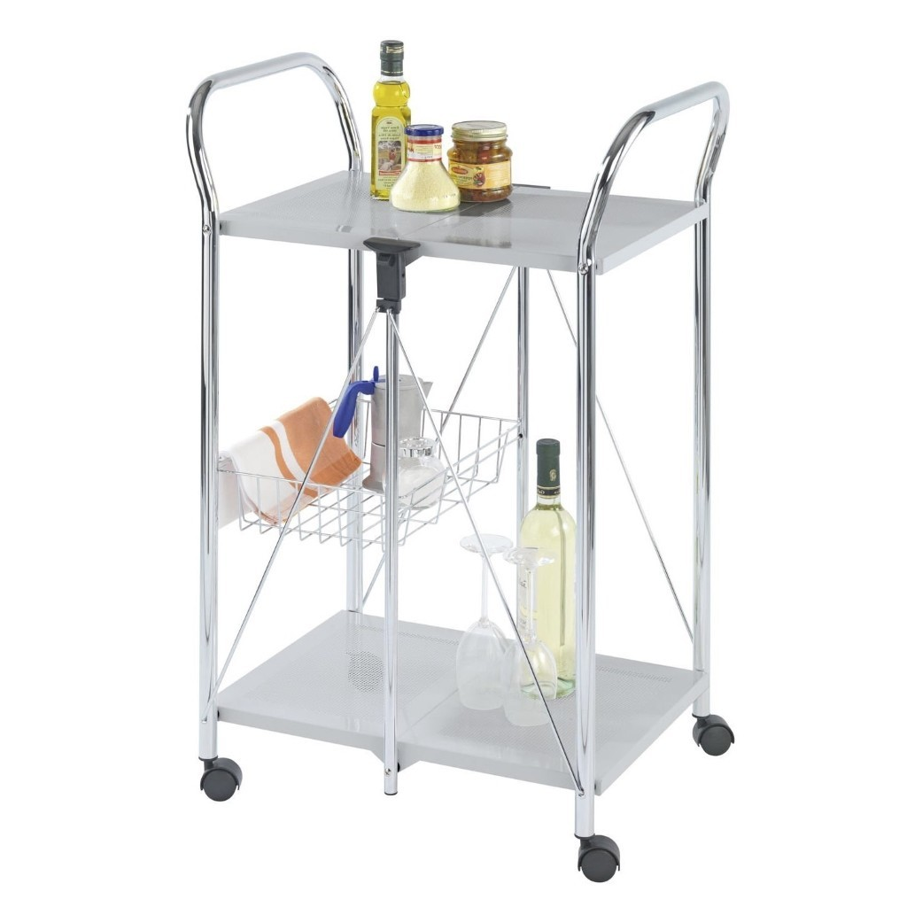 Foldable kitchen trolley