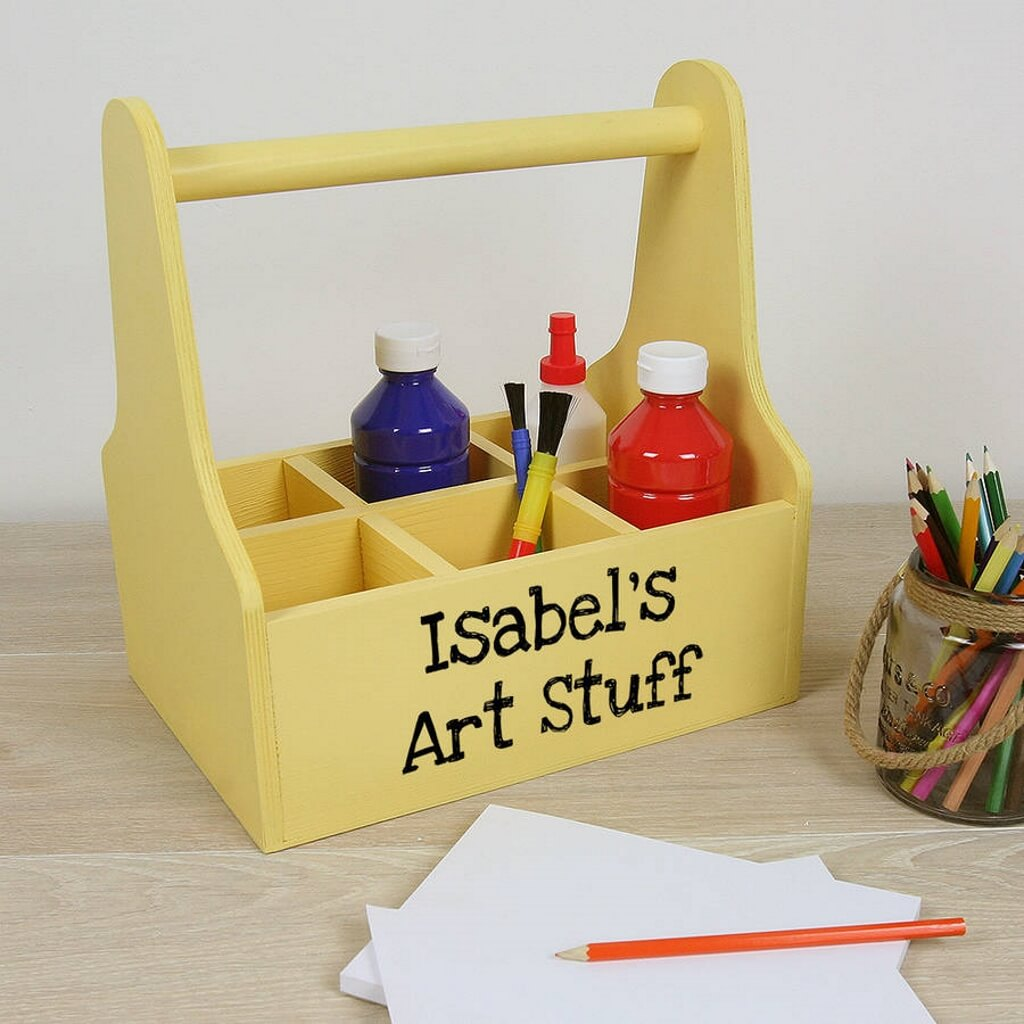 Personalised wooden carry with 6 compartments
