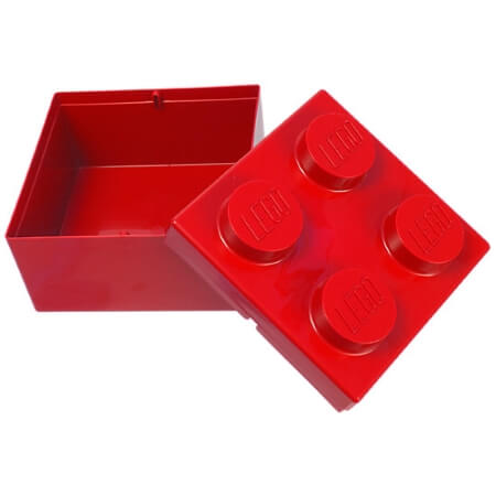 Single Lego Storage Brick Red