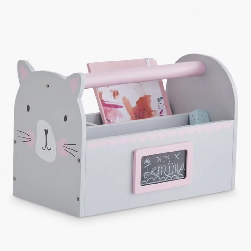 Cat themed carry caddy - grey