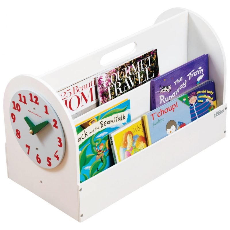 Book caddy with clock face