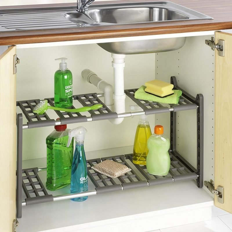 Under the sink shelving