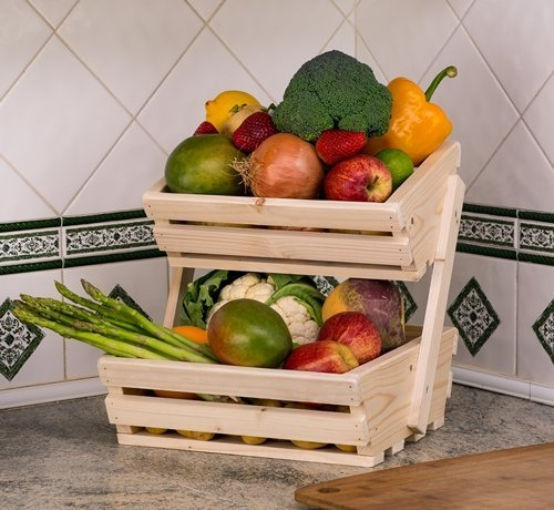 2-tier counter top veg rack