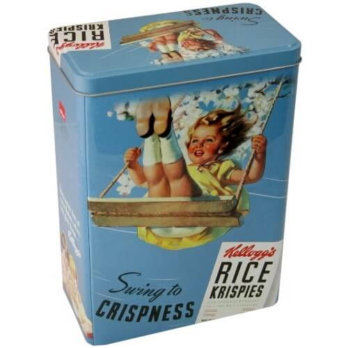 Rice Krispies Retro Blue Storage Tin