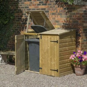 Wheelie bin storage shed