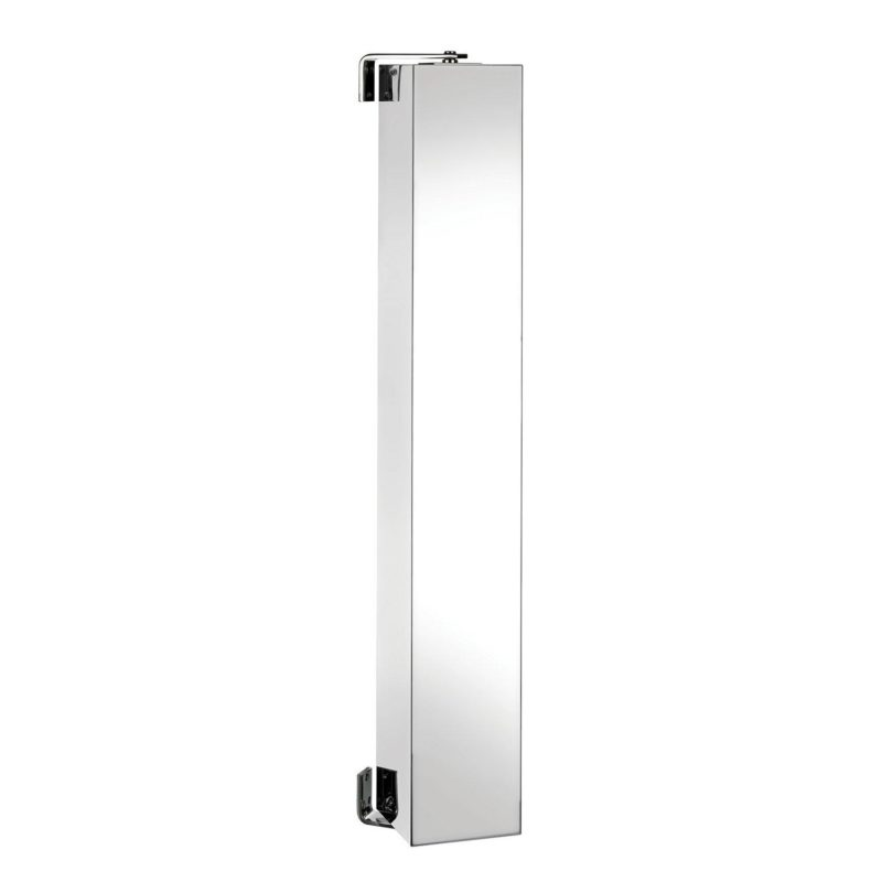 Spinning bathroom cabinet with mirror