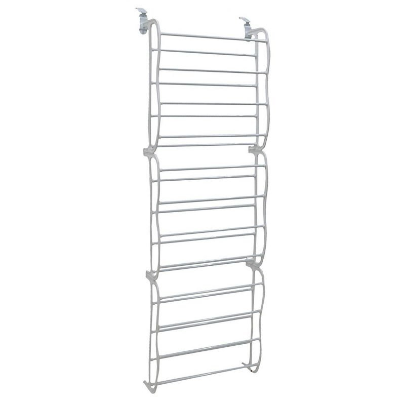 3-section over-door shoe rack