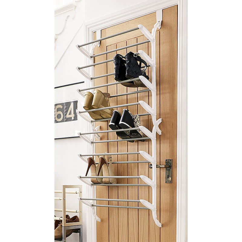 24 Pair Over Door Shoe Storage Rack