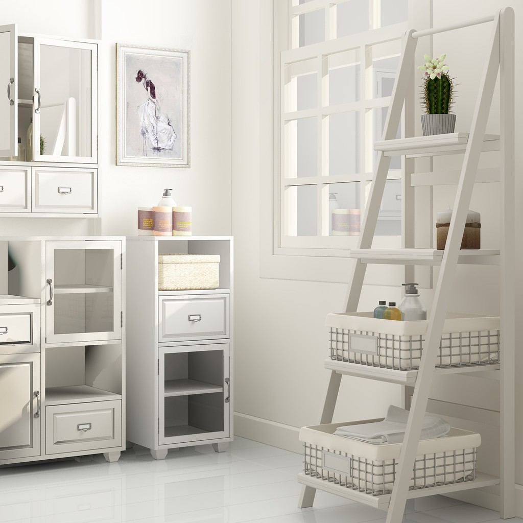 Bathroom Ladder Shelves – Storage Ideas