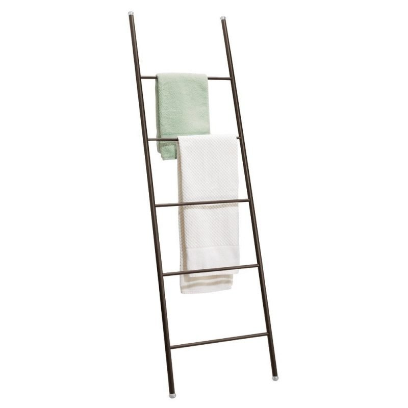 Black ladder style towel rail