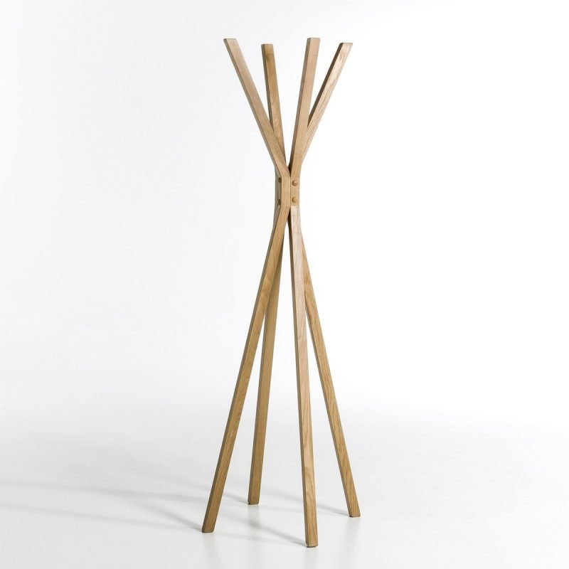 Geometric coat stand with 4 hangers
