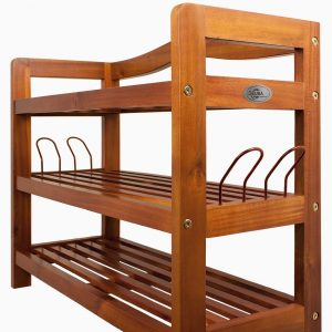 3 tier acacia shoe rack