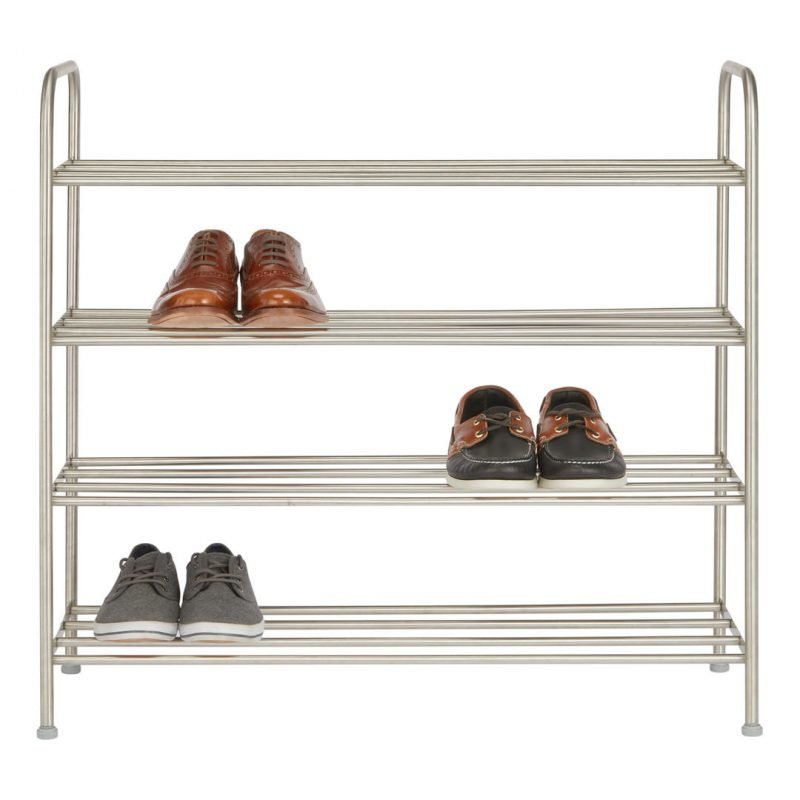 4 tier stainless shoe rack