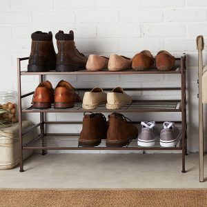 3 tier metal shoe rack
