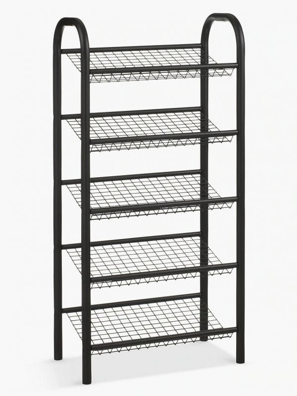Narrow 5-tier shoe rack