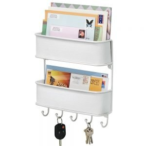 2-tier hallway organiser with 5 key hooks