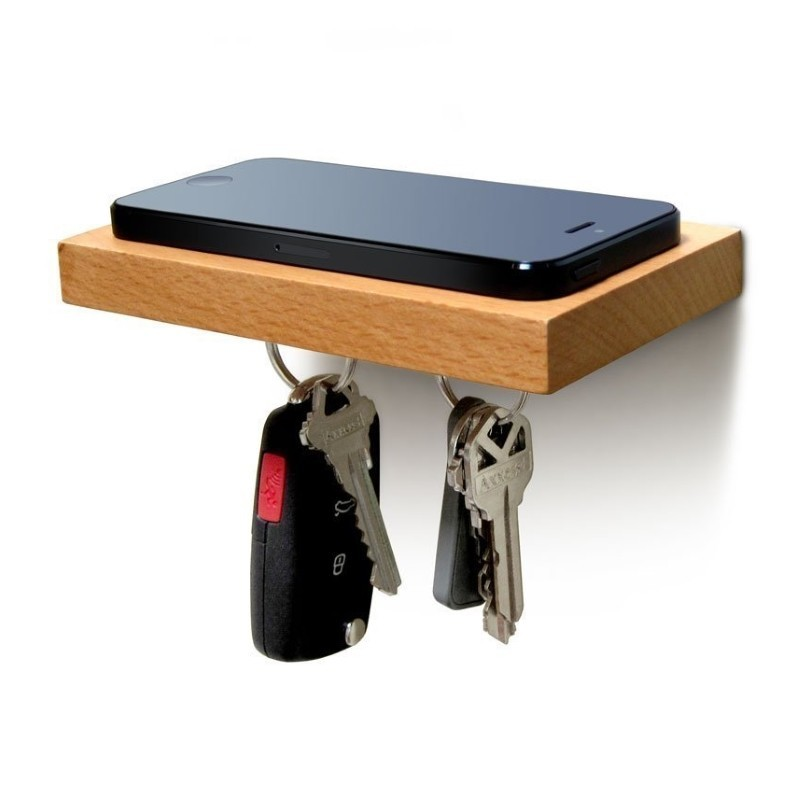 Floating key shelf