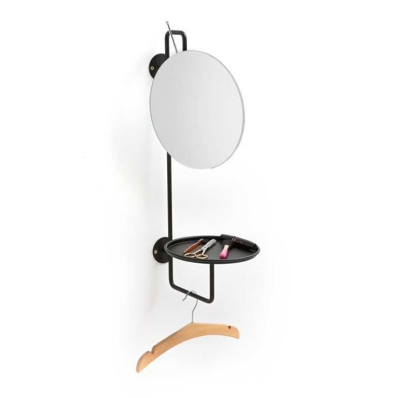 Combined mirror,shelf and hanging rail