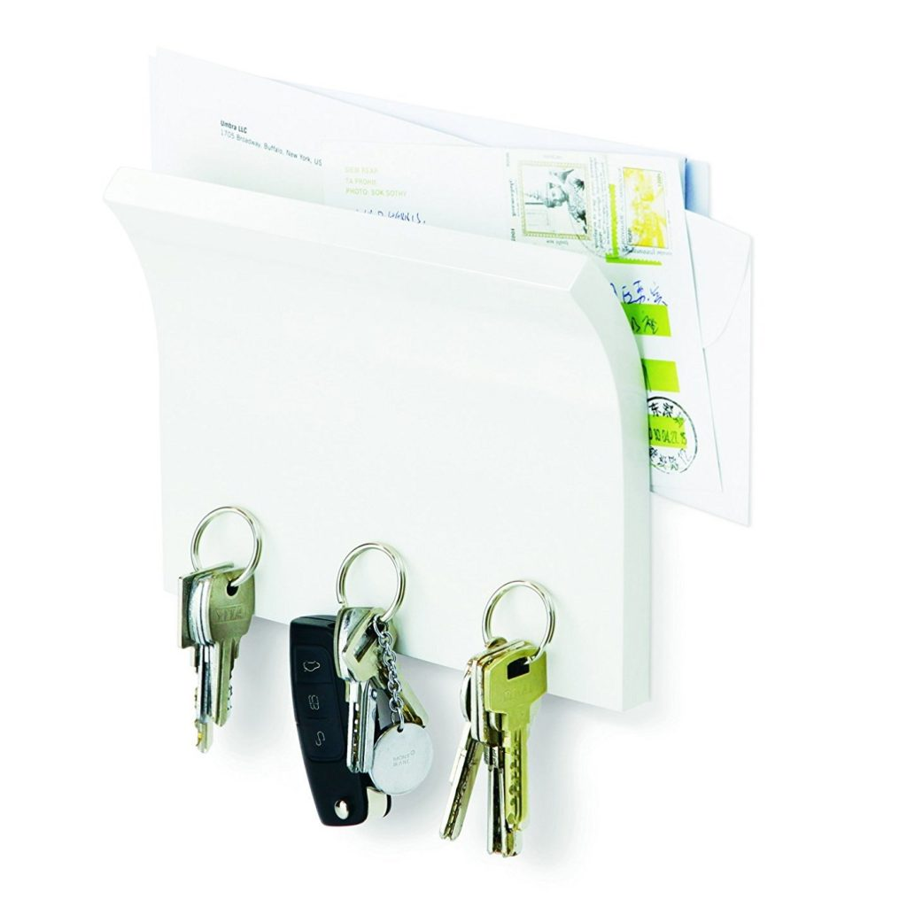 Wall-mounted letter and key holder