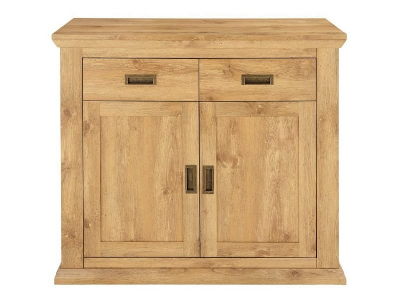 Oak effect 2-door cupboard