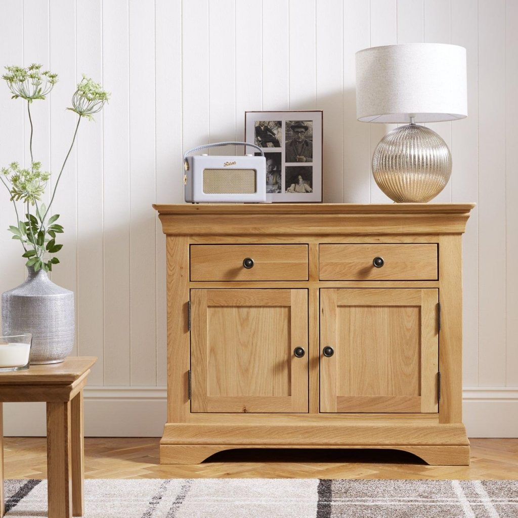 Oak sideboard with a natural oiled finish