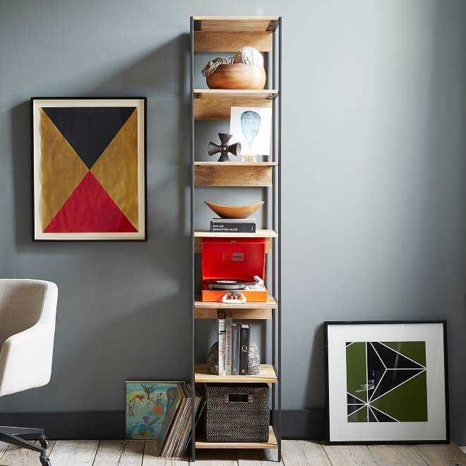 Rustic tall bookcase