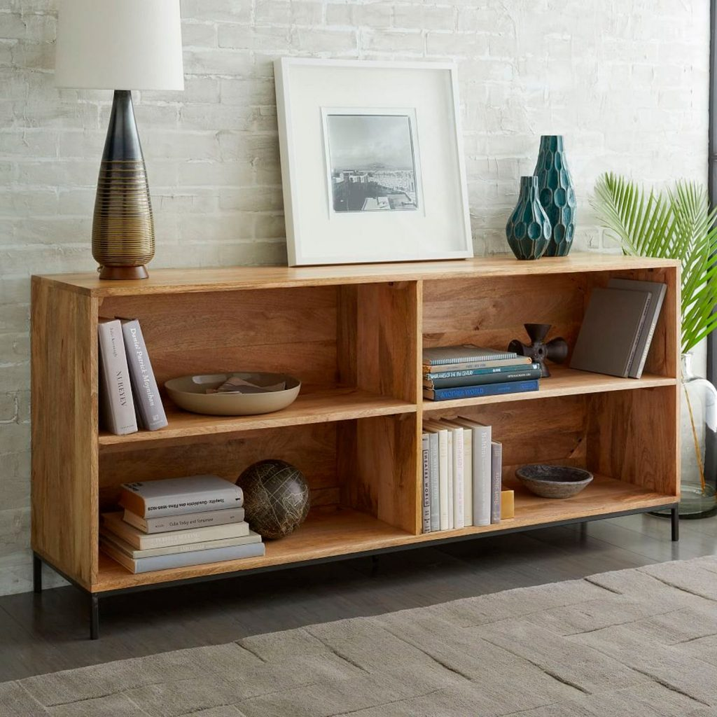 Wide 4 section bookcase