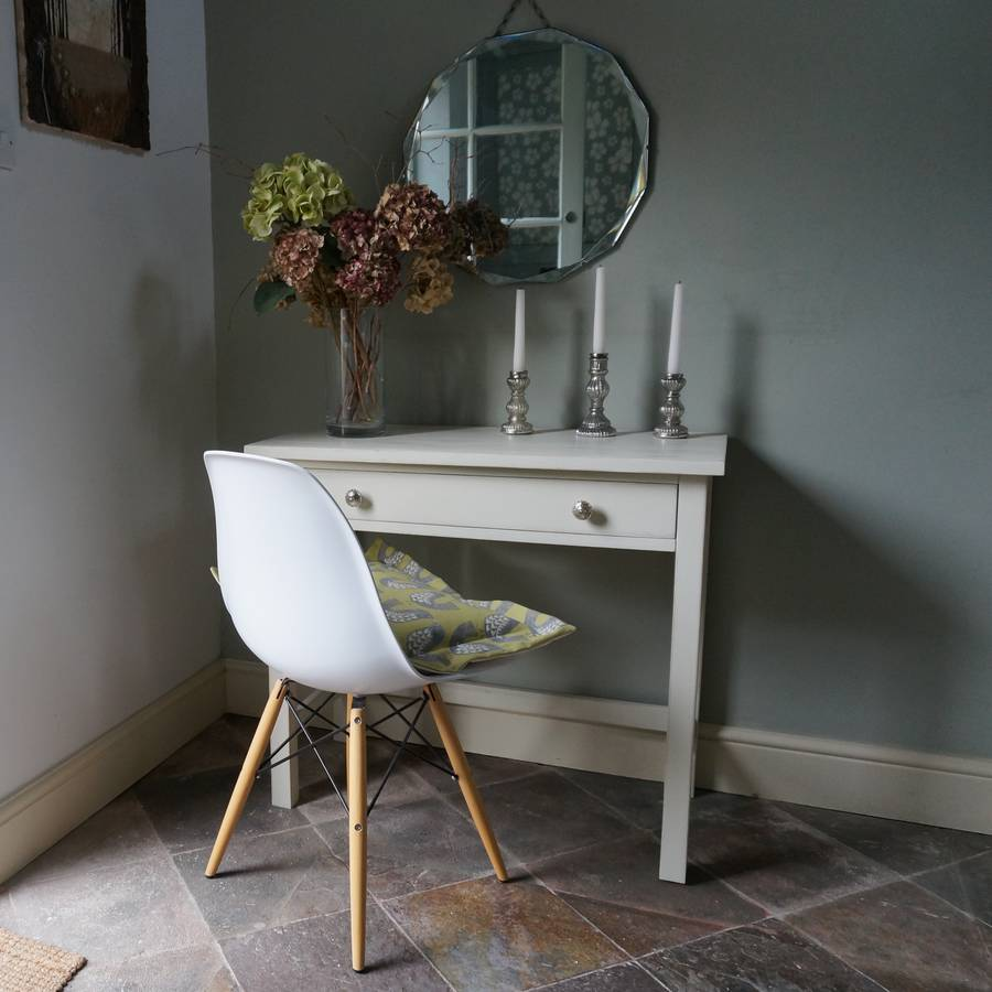 Hand painted console table with drawer