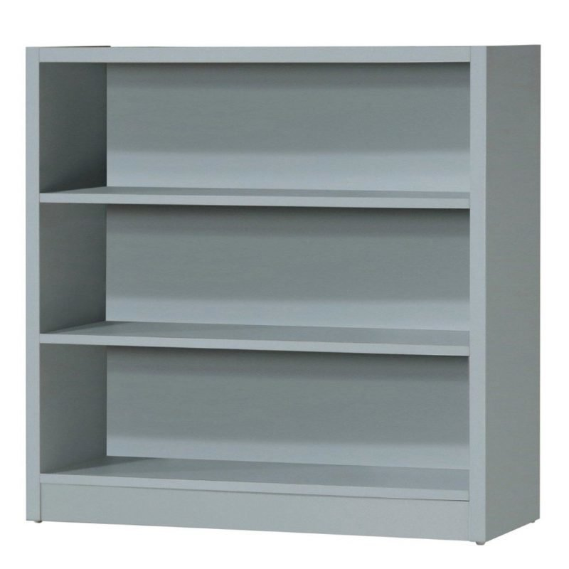 3 shelf low unit in grey