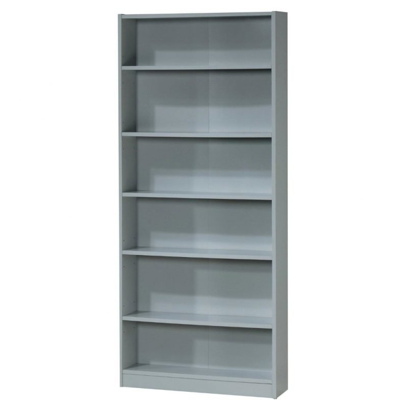 Tall Wide Bookcase In Grey