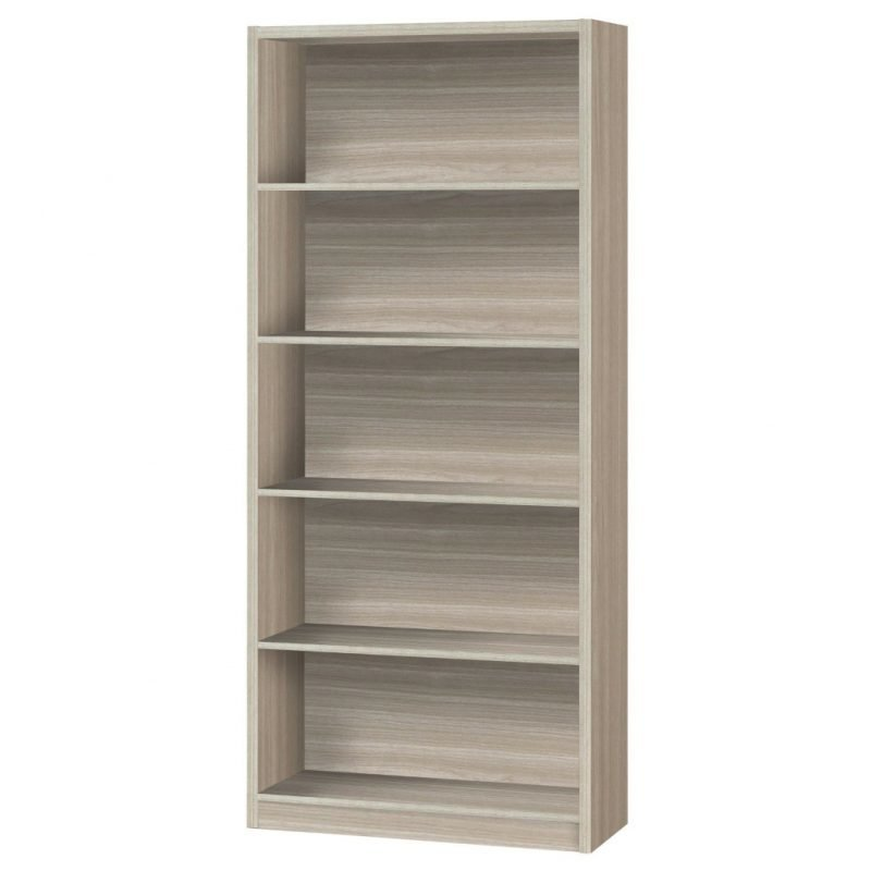Extra deep shelf bookcase in oak