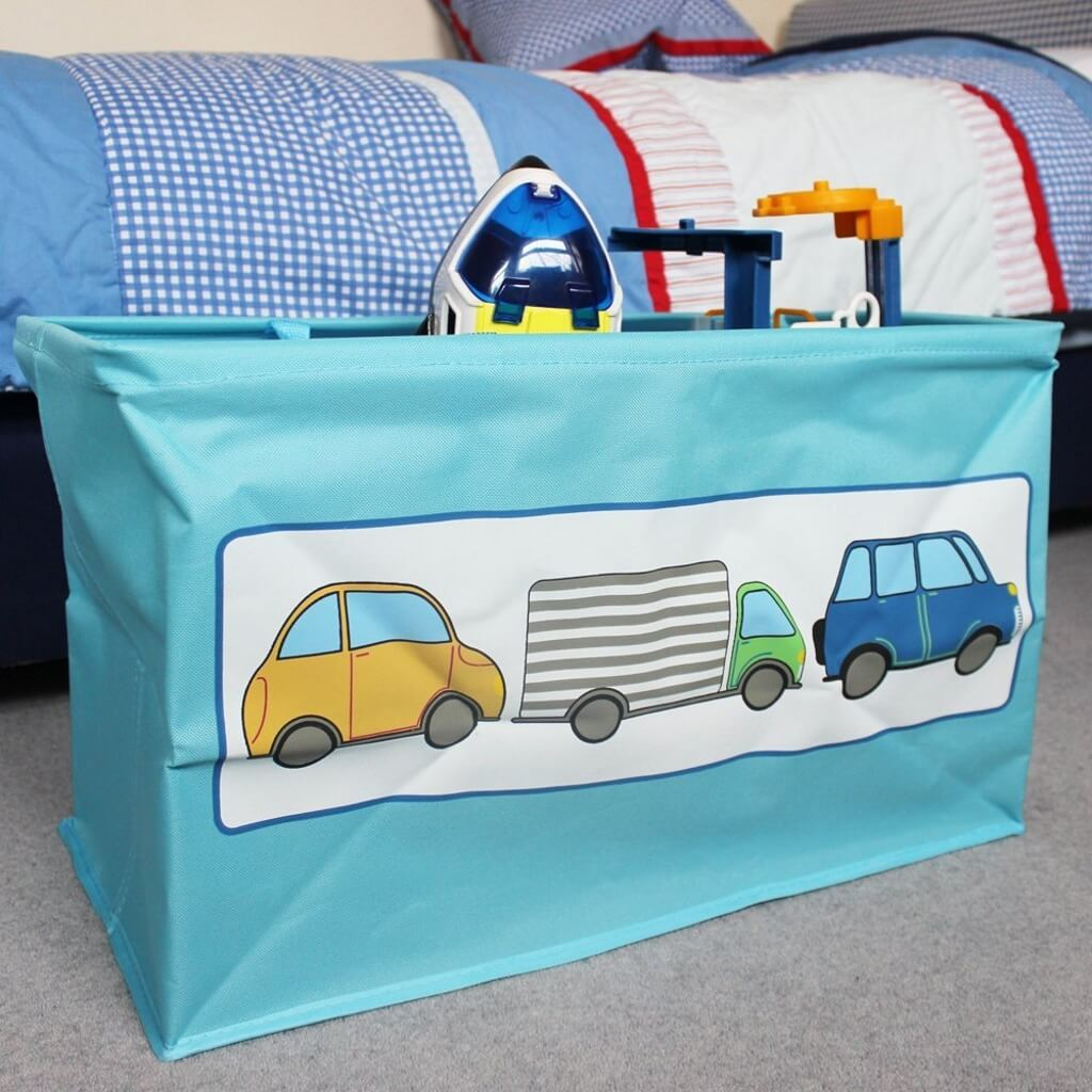 Lrge folding storage bag with cars design print
