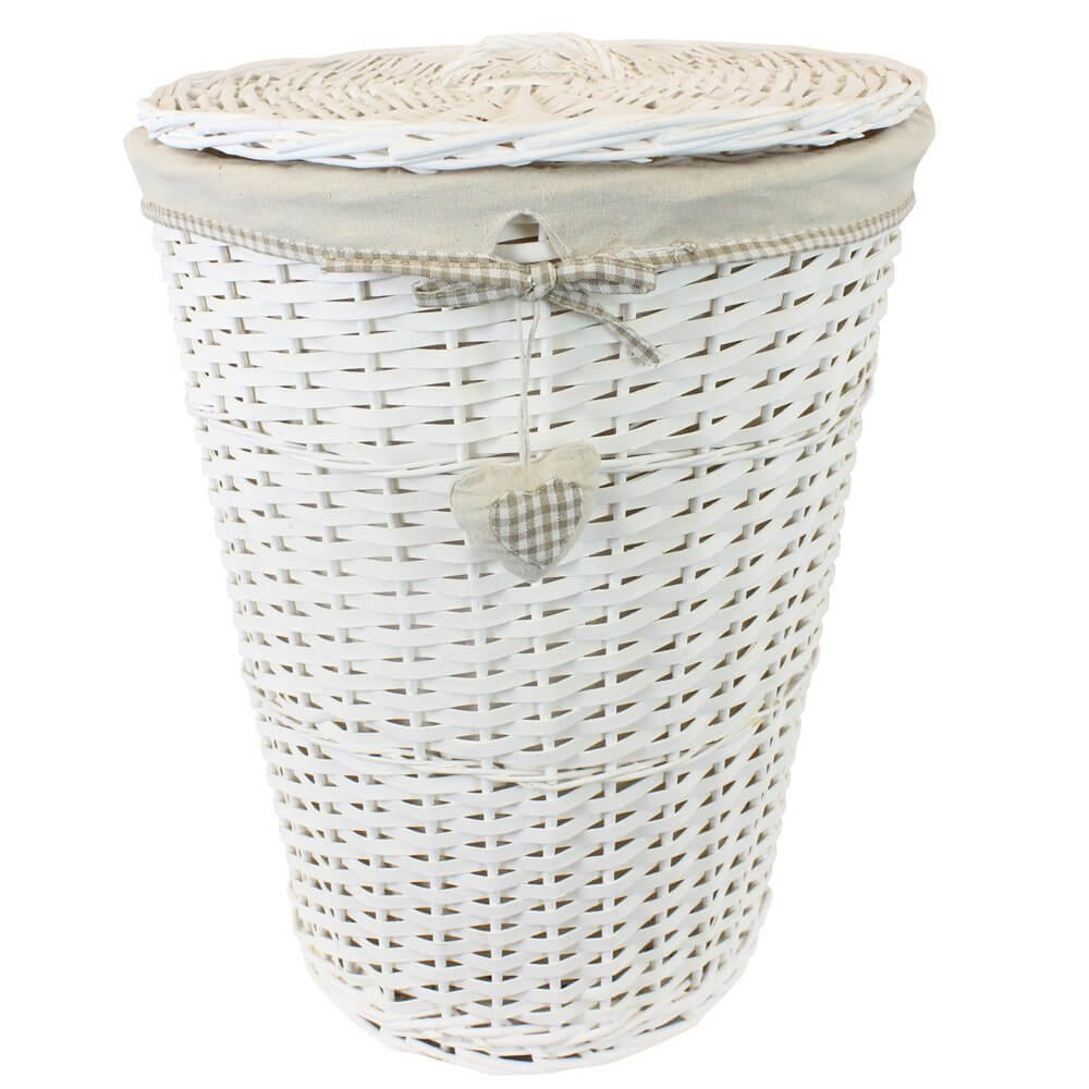 round tapered laundry basket with lid