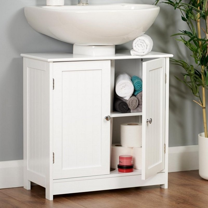 Budget white painted cabinet