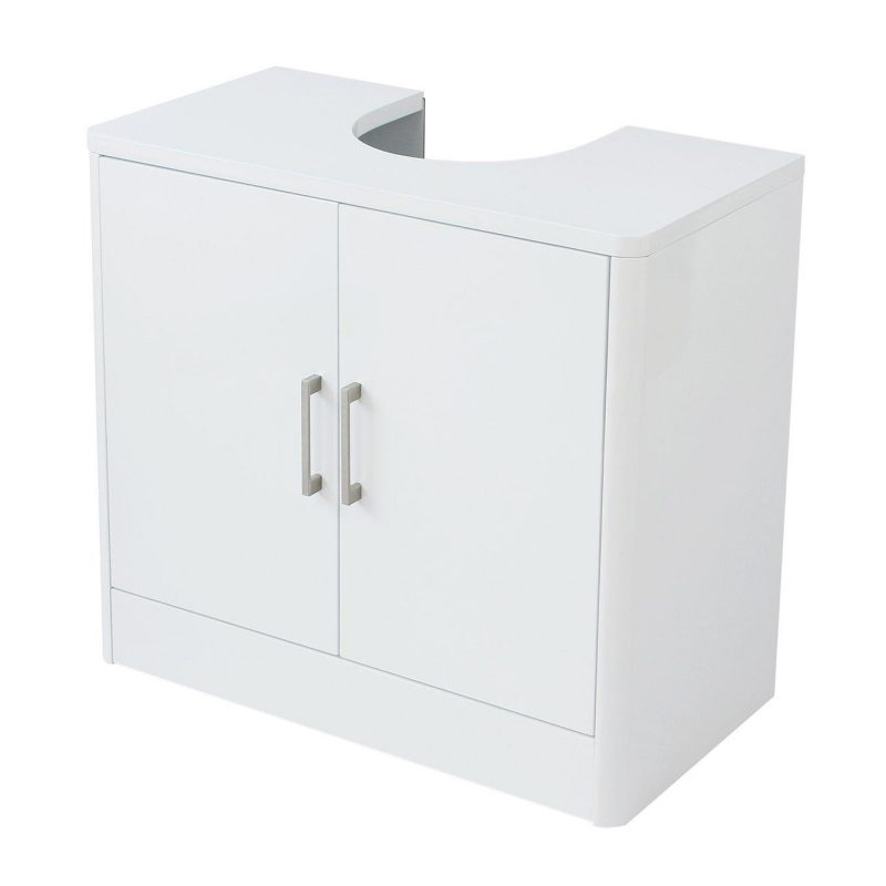 White gloss under sink unit