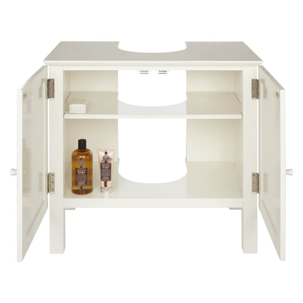 Under sink unit with 2 shelves